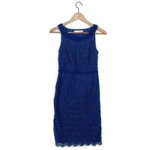 Boden Scallop Blue Dress Lace Scalloped Cot